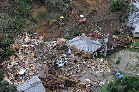 [Photo] Les images des conséquences du typhon Talas dans l'ouest du pays | The Mainichi Daily News | Japon : séisme, tsunami & conséquences | Scoop.it