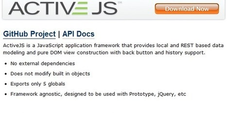 20 JavaScript Frameworks: MVVM Templating, Licenses etc ... | Next Web App | Scoop.it