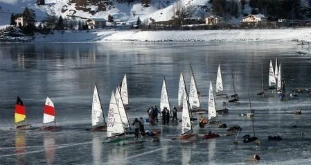 Lago di Resia (Trentino-Alto Adige) – Ice flying, snowkite e sci | Laghi in Italia | Scoop.it
