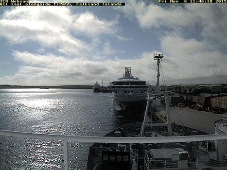 MS Fram sur la #webcam du RRS James Clark Ross #Malouines #Hurtigruten | Arctique et Antarctique | Scoop.it