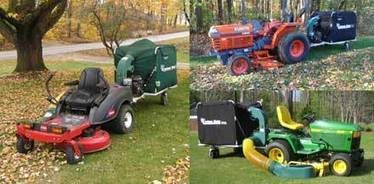 Five Cyclone Rake lawn vacuum machines to choose from. The engine-driven Cyclone Rake lawn vacuum is a landscaping and lawn care trailer that hitches to a riding mower or lawn tractor and turns it ... | Leaf Cleanup | Scoop.it