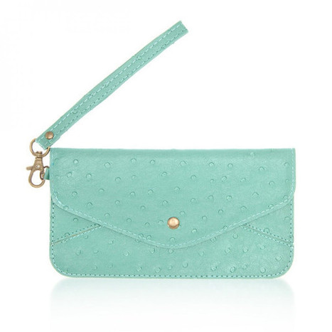 Nyla Teal Faux Leather Clutch | Cool Accessories | Scoop.it