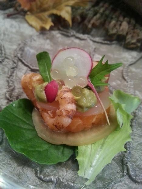 Amuse van zalm, garnalen en avocadomousse | Lekker Tafelen | Lekker Tafelen | Scoop.it