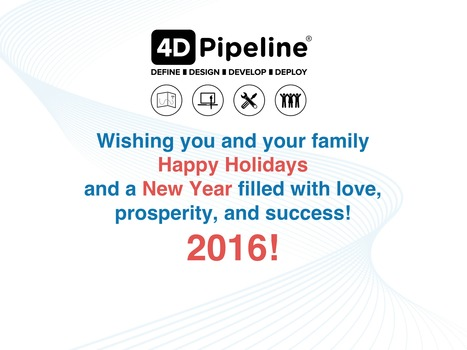 Happy Holidays from the 4D Pipeline team - it's been a great year building products people love! | 4D Pipeline - trends & breaking news in Visualization, Mobile, 3D, AR, VR, and CAD. | Scoop.it