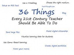 36 Things Every 21st Century Teacher Should Be Able To Do | Educational Leadership and Technology | Scoop.it