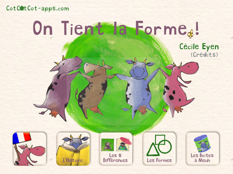 On Tient la Forme ! livre-application de Cécile Eyen -version 1.4 | CotCotCot-apps.com | Must Read articles: Apps and eBooks for kids | Scoop.it