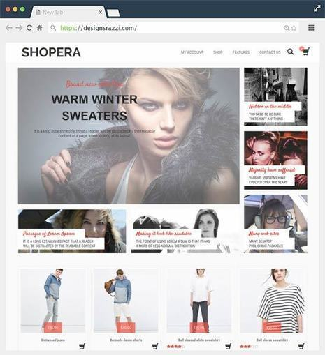 Shopera Free WooCommerce WordPress Theme | Designrazzi | Designrazzi | Scoop.it