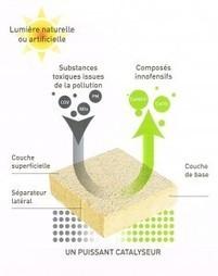 EcoGranic : des dalles en béton qui luttent contre la pollution par photocatalyse | Innovation dans l'Immobilier, le BTP, la Ville, le Cadre de vie, l'Environnement... | Scoop.it