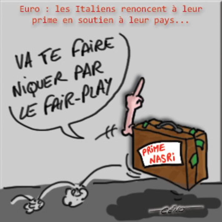 Euro : les Italiens renoncent à leur prime | Baie d'humour | Scoop.it
