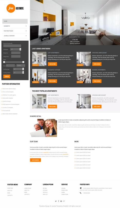 Free Estate - Free Real Estate template | FREE JOOMLA TEMPLATES | Scoop.it
