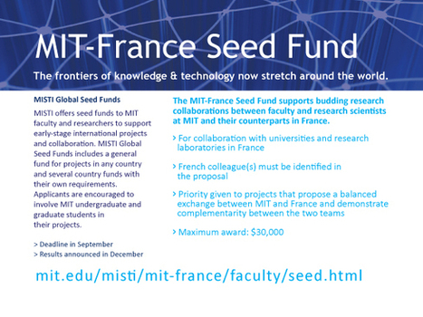 Fonds MIT-France : appel à propositions 2014-2015 - Office for Science & Technology at the Embassy of France in the United States | Appels d'offre scientifiques | Scoop.it