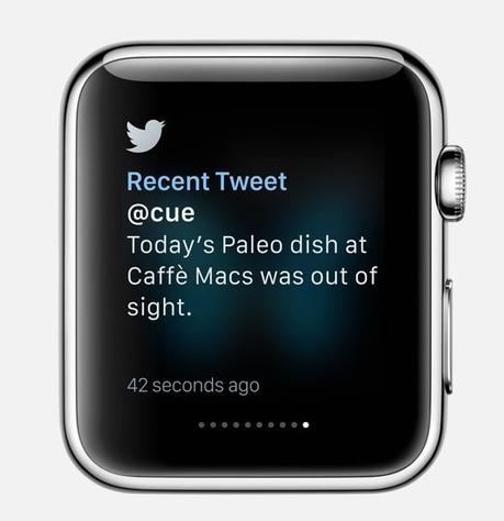 What Facebook, Instagram, Twitter And WeChat Look Like On The Apple Watch - TechCrunch | Mobile Development | Scoop.it