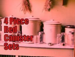 4 Piece Red Canister Sets for Kitchens – Red Kitchen Accessories | Home and Garden | Scoop.it