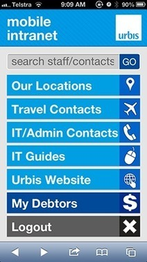 Mobile instead of intranet? Urbis shares their experiences - Column Two | Mobile intranet examples | Scoop.it