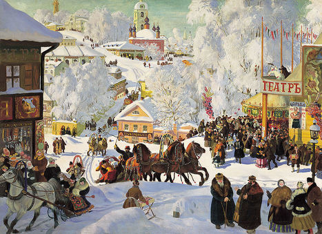 """Maslenitsa"" Boris Kustodiev 