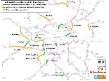 Ile-de-France : 11 voies dédiées aux bus sur les autoroutes et voies rapides | Intermodalité transports voyageurs | Scoop.it