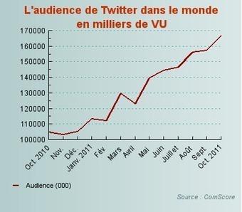Une croissance mondiale de 59% sur un an - Audience Twitter - Journal du Net e-Business   Online ecosystems - Écosystèmes Web   Scoop.it