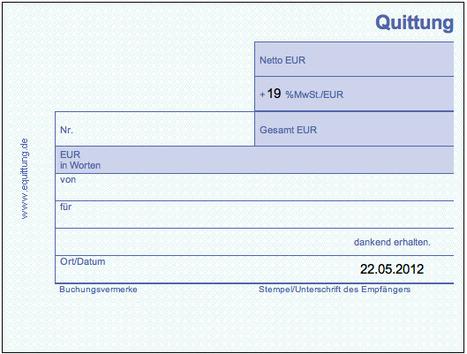 Quittung online Ausdrucken - Drucken von Quittungen - Quittungsvorlage | Deutsch als Fremdsprache | Scoop.it