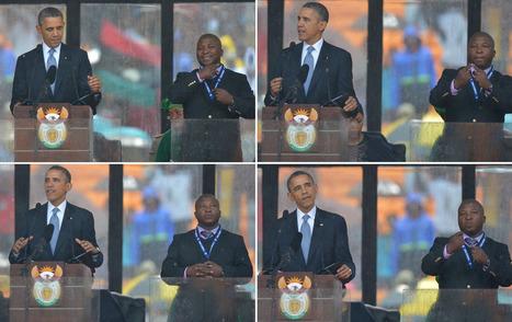 Mandela service sign language interpreter failed in 2012 with 'self-invented' gestures   speech pathology   Scoop.it