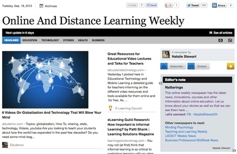 Sept 18 - Online And Distance Learning Weekly | Studying Teaching and Learning | Scoop.it