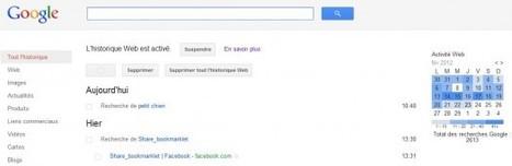 Supprimer l'historique de recherche de Google | Time to Learn | Scoop.it