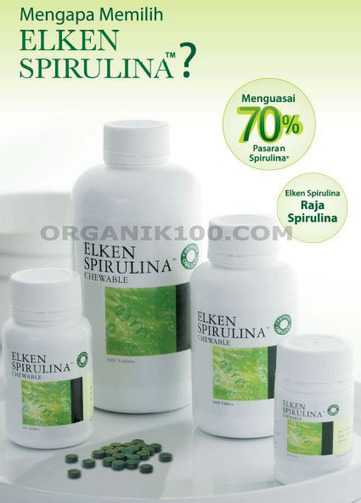 Elken Spirulina Chewable, Penguasa Pasar Spirulina | Organik100.com | Anda Sumatra | Scoop.it