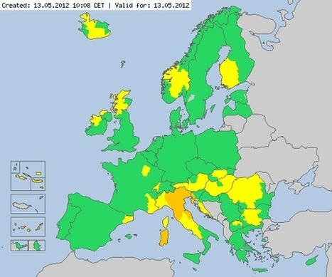 Meteoalarm - severe weather warnings for Europe - Mainpage | omnia mea mecum fero | Scoop.it