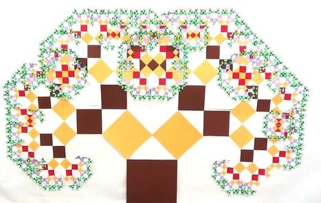 Árbol pitagórico con cuadrados de cartulina | MATEmatikaSI | Scoop.it