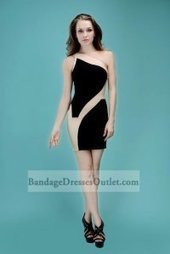 One Shoulder Black Nude Colorblocked Bodycon Dress Hot Sale [One Shoulder Black Nude] - $155.00 : Cheap Bandage Dresses Online, Wholesale Price Bandage Dresses Outlet | Prom dress | Scoop.it