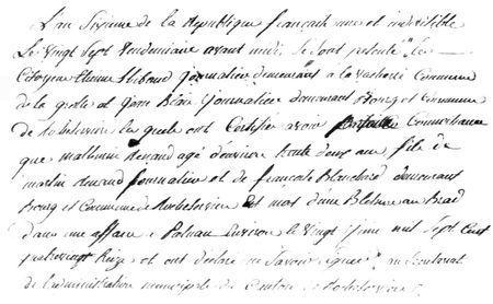 A La Grolle (85) en 1797, quatre ans pour déclarer un décès… - Vendéens & Chouans | GenealoNet | Scoop.it