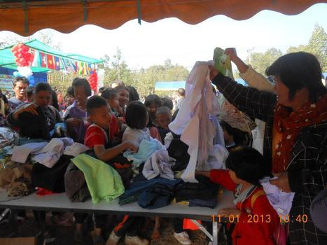 Cloth Donation to Rural Maehongson | Online Buddhism | Scoop.it