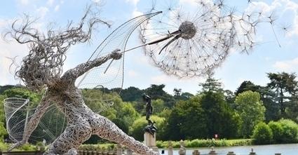 Des images puissantes de sculptures de fées enchanteresses et dynamiques qui semblent lutter contre le vent | Aucoindujour | Scoop.it
