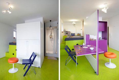 'Hidden Kitchen' Wall Transforms into a Dining Room Table | Designs & Ideas on Dornob | Interioraholic | Scoop.it