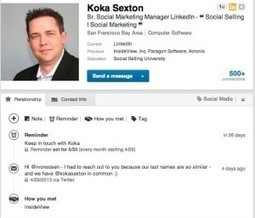 LinkedIn Contacts - Part Two | Simply Social Media | Scoop.it