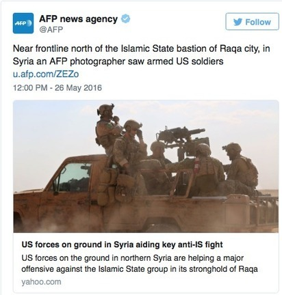 Pentagon Denies Presence Of Troops On Syria Front Lines | Conservative Politics | Scoop.it