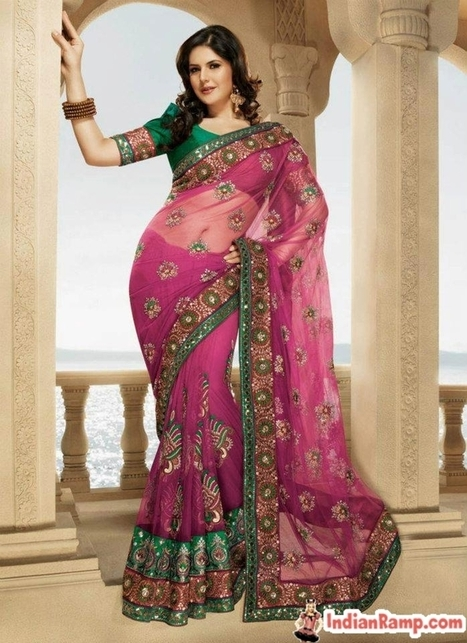 Zarine Khan in Transparent Indian Sarees Bollywood Collection 2013 | CHICS & FASHION | Scoop.it