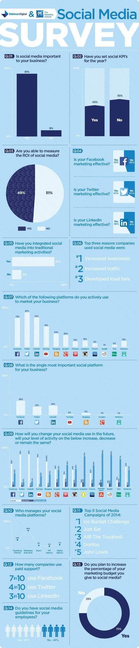 Social Media Survey #SocialOutlook15 - Edelman Ireland | Social Media ePower Marketing | Scoop.it