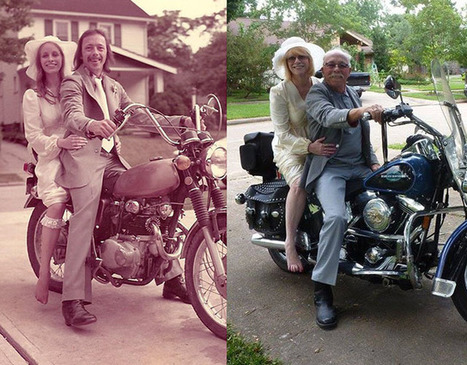 Two Wedding Photos Recreated 40 Years Later | Photography stuff | Scoop.it
