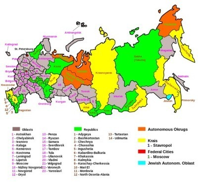 So how many states are there in Russia? | Life in Moscow From an Expat Perspective | Scoop.it