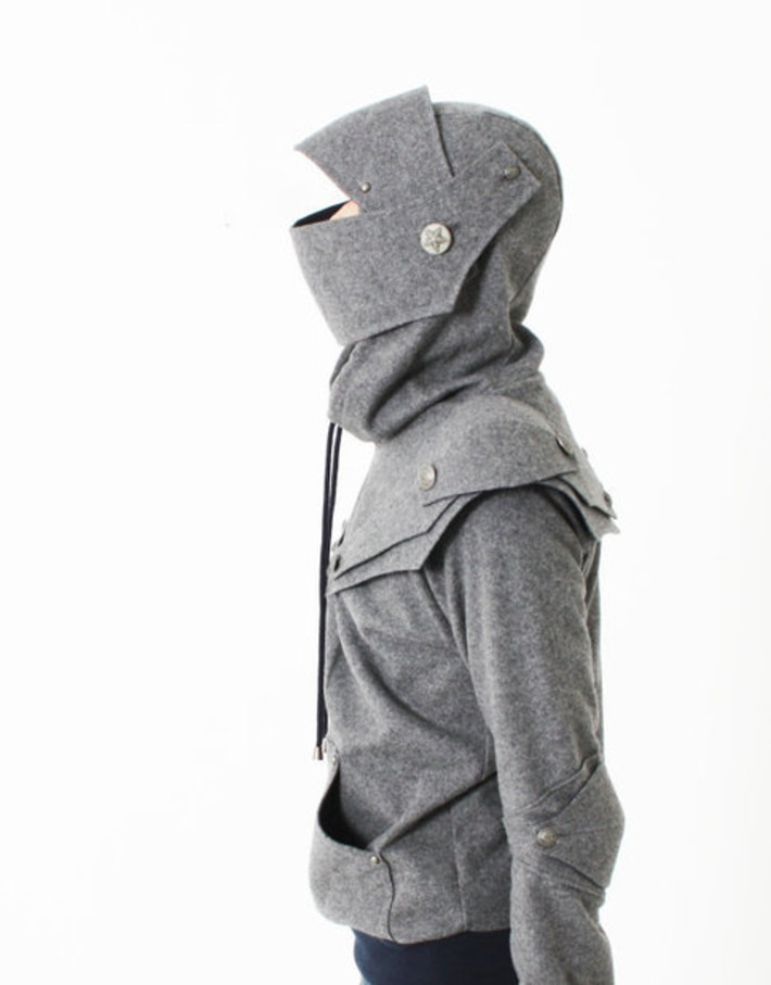 Arthur Armored Knight  Medieval Armor Pullover Hoodie(100% Handmade Wool) Made To Order | Nerdy Needs | Scoop.it