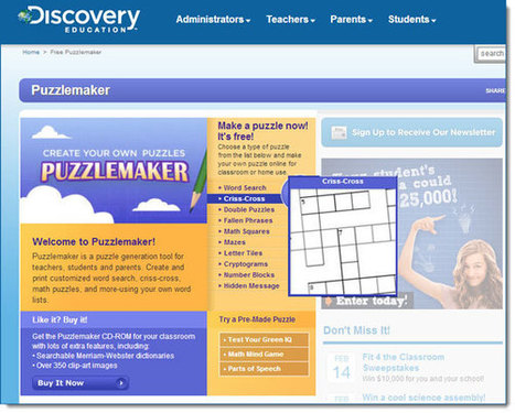 Create Your Own Crossword Puzzle With These Tools | web2.0 | Scoop.it