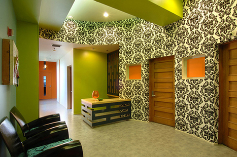 Creative Small Office Space in Lime Green | Simple Decorating Ideas For Home | Scoop.it