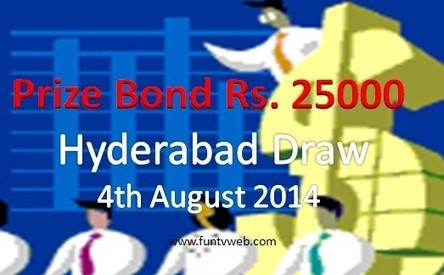 Hyderabad Rupee 25000 Prize Bond Draw Result list – 4th August 2014 | Fun TV Web | Scoop.it