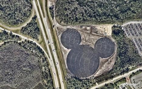 Voilà à quoi ressemblent les fermes solaires de Disney vues du ciel | Energies Renouvelables | Scoop.it