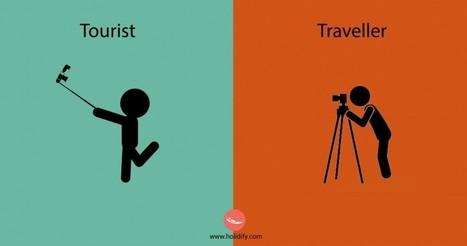 Les 10 différences entre un touriste et un voyageur - Il était une pub | Tourisme et Formation | Scoop.it