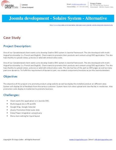 Joomla development - Solaire System - Alternative Solaire | Hi-Tech ITO(Offshore Software Development Company) | Scoop.it