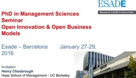 PhD Course - Open Innovation and Open Business Models | Peer2Politics | Scoop.it