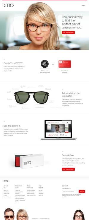 DITTO | Designer Glasses & Sunglasses, Video Try-On | Web Design Ideas | Scoop.it