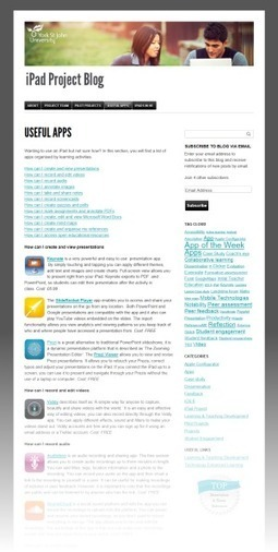 Useful apps for iPad education | E-Learning Development Team | iPads in EdTech | Scoop.it