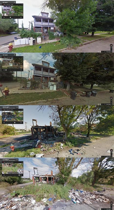 Intense Before-and-After Google Street View Pictures Perfectly Capture Detroit's Decline | Year 7 Place and Liveability | Scoop.it